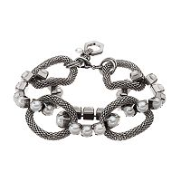 Simply Vera Vera Wang Linked Simulated Pearl & Mesh Chain Bracelet