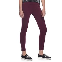 Juniors' Mudd® Ponte Moto Leggings