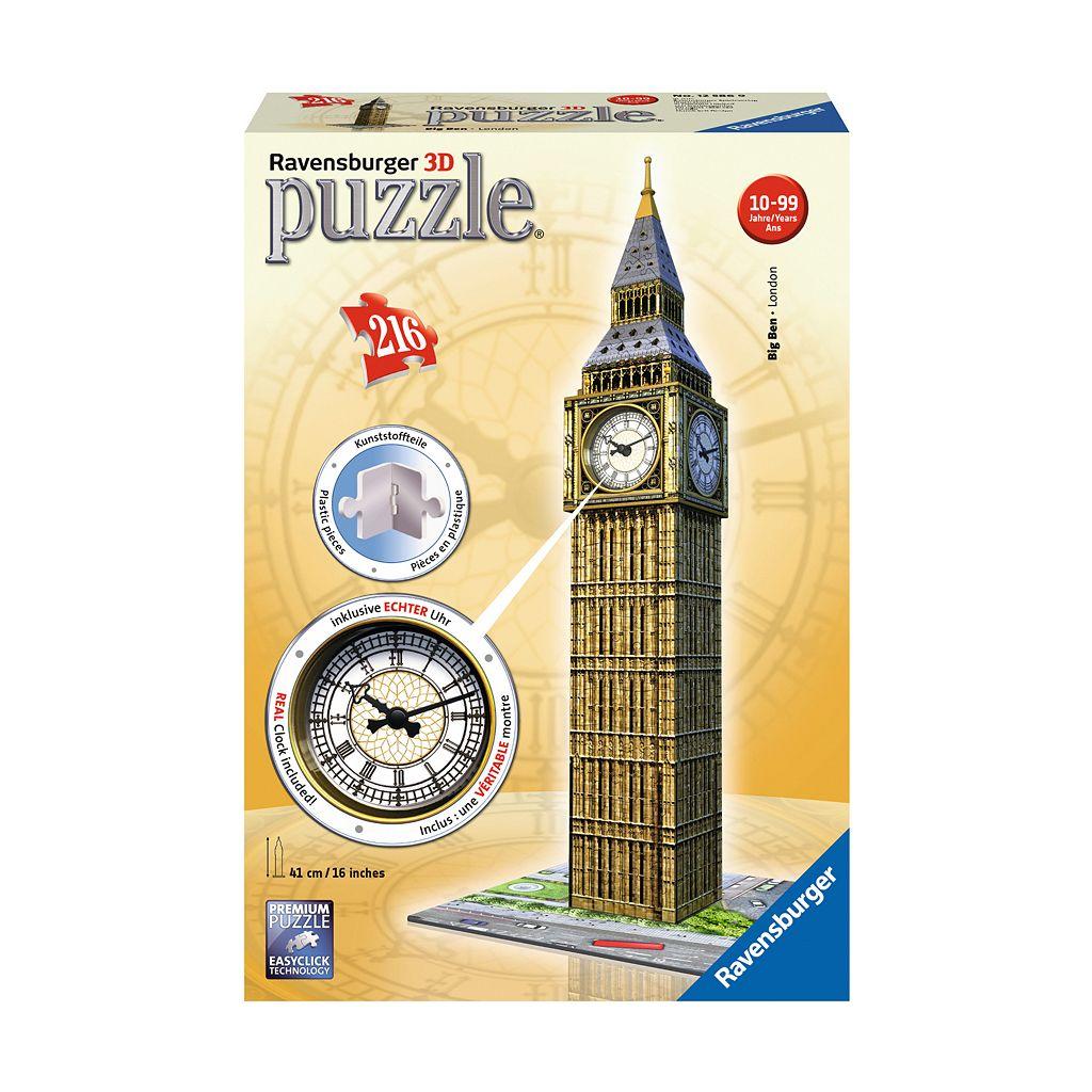 Ravensburger 216-pc. 3D Puzzle Big Ben with Working Clock