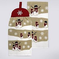 St. Nicholas Square® Tie-Top Snowman Kitchen Towel 2-pk.