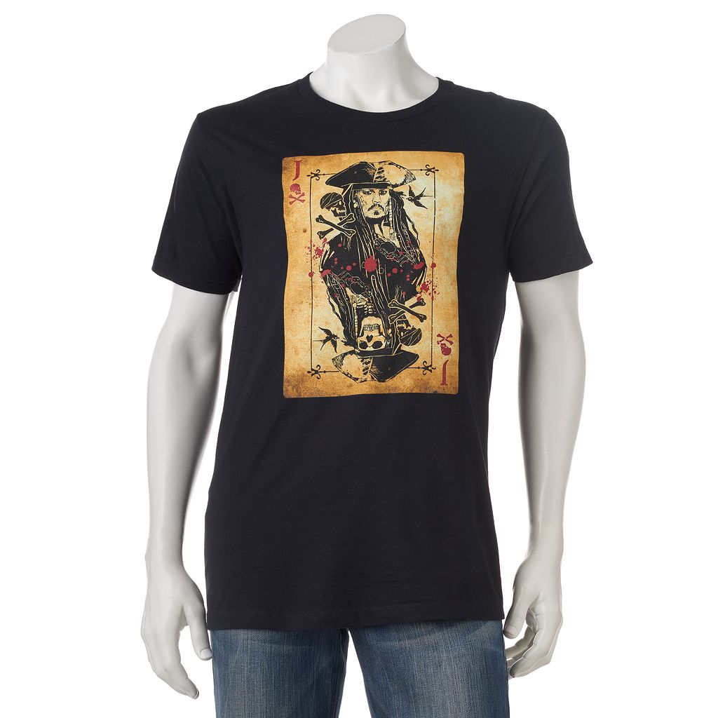 Men's Pirates of the Caribbean Jack Sparrow Card Tee