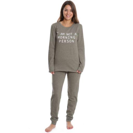 Juniors' Wallflower Pajamas: Long Sleeve Top & Jogger Pants PJ Set