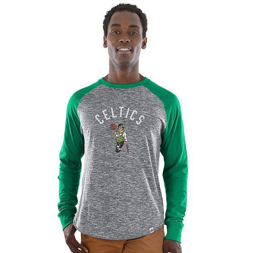 Big & Tall Majestic Boston Celtics Raglan Tee