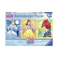 Disney Princess Cinderella, Belle & Ariel 200 pc Panoramic Puzzle by Ravensburger