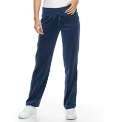 Petite Tek Gear® Velour Drawstring Pants