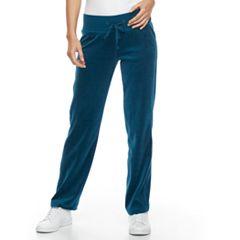 Petite Tek Gear® Velour Drawstring Pants