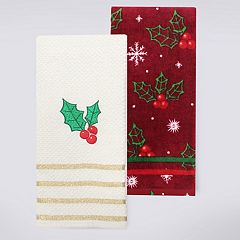 St. Nicholas Square® Holly Berries Kitchen Towel