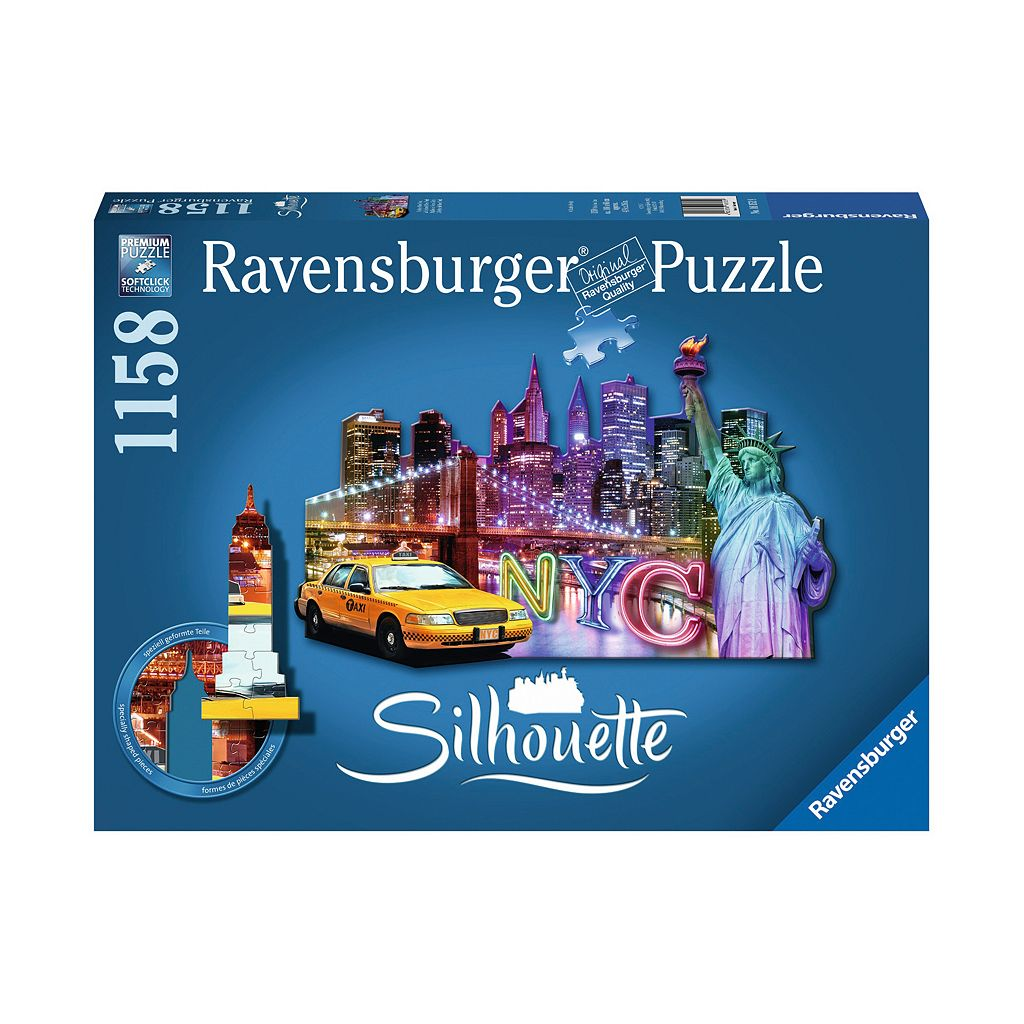 Ravensburger 1158-pc. NYC Skyline Silhouette Shaped Puzzle