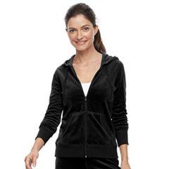 Petite Tek Gear® Velour Zip-Up Jacket