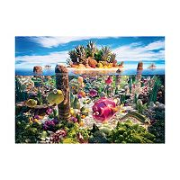 Willow Creek Press 1000 pc Food Landscapes Coralscape Jigsaw Puzzle