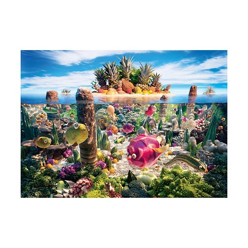 Willow Creek Press 1000-pc. Food Landscapes Coralscape Jigsaw Puzzle