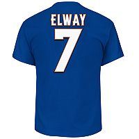 Big & Tall Majestic Denver Broncos John Elway Name and Number Tee