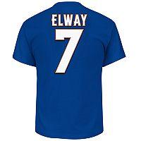 Big & Tall Majestic Denver Broncos John Elway Name and Number Tee