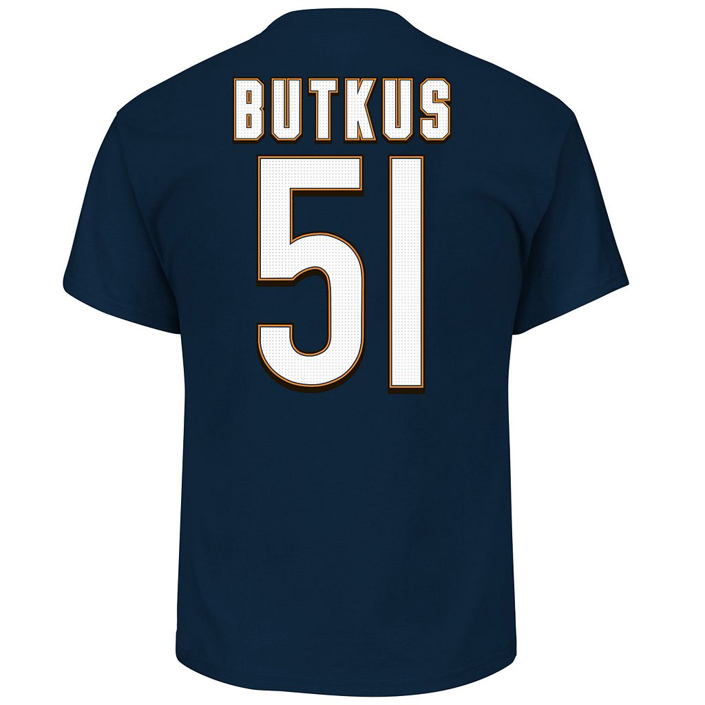 Big & Tall Majestic Chicago Bears Dick Butkus Name and Number Tee