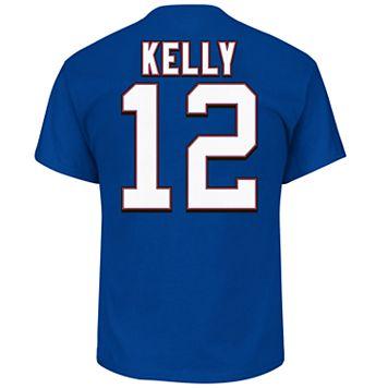 Big & Tall Majestic Buffalo Bills Jim Kelly Name and Number Tee