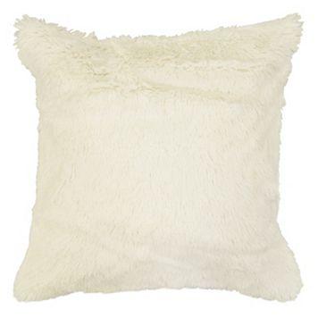 Spencer Home Decor Polar Bear Faux Fur Throw Pillow Cover