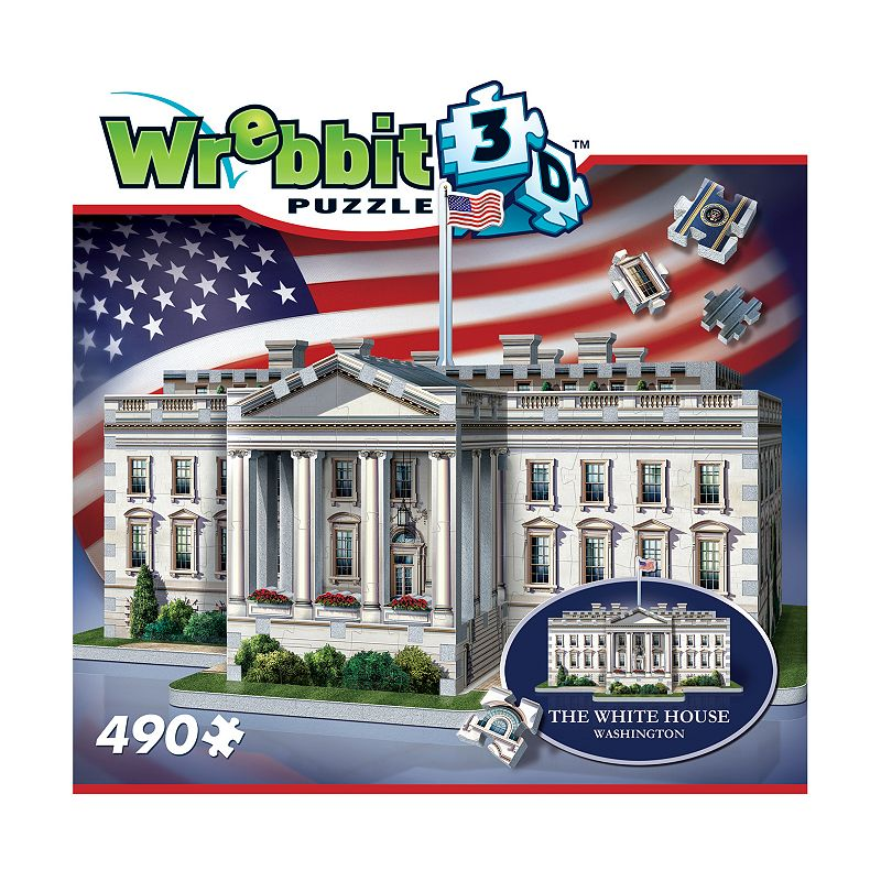Wrebbit 490-pc. The White House 3D Puzzle Celebrate the beauty of the Executive Residence with this Wrebbit 490-pc. The White House 3D Puzzle. Fully-interlocking pieces WHAT'S INCLUDED 490 pieces Assembled size: 13.5  x 12  x 9.75  Age: 14 years & up Imported Model no. WRW3D1007 Size: One Size. Color: Multicolor. Gender: unisex. Age Group: kids.