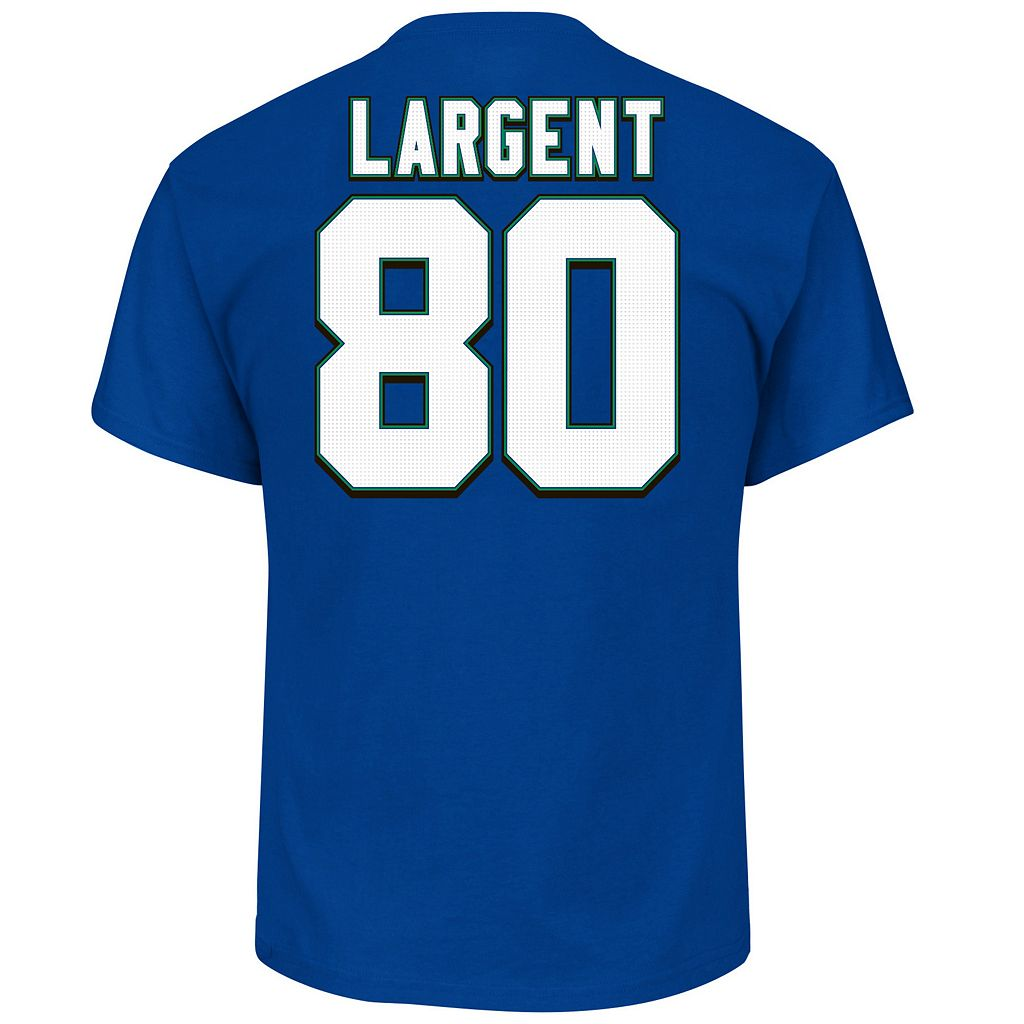 Big & Tall Majestic Seattle Seahawks Steve Largent Name and Number Tee