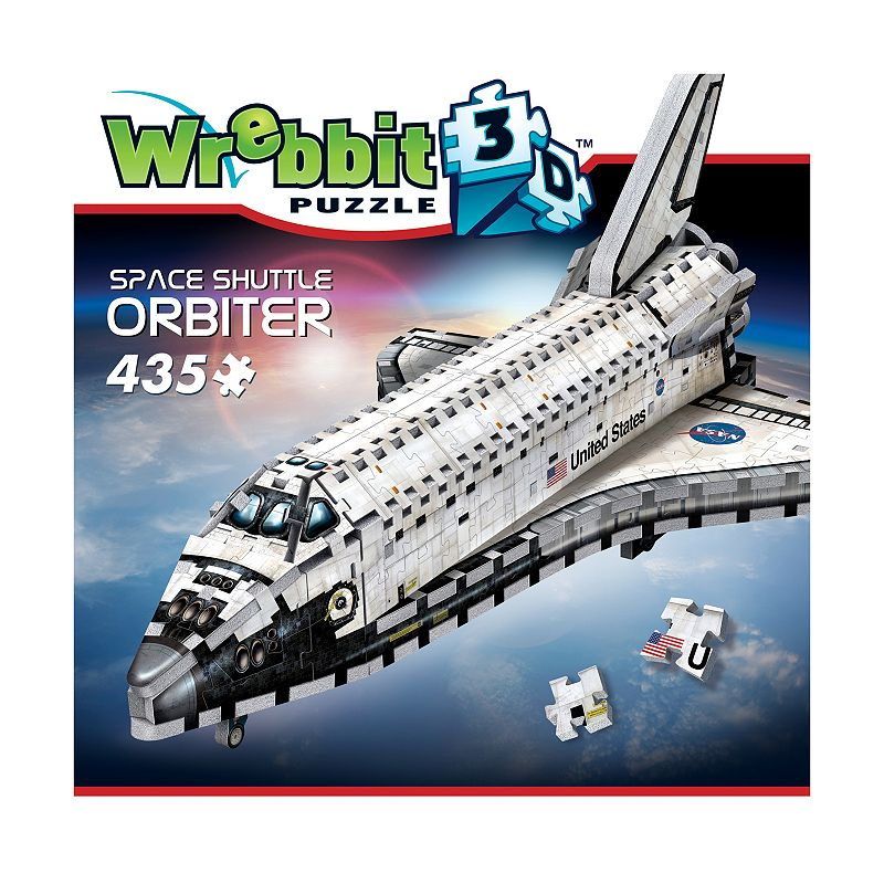 Wrebbit 435-pc. Space Shuttle Orbiter 3D Puzzle Explore space in a new dimension with this Wrebbit 435-pc. Space Shuttle Orbiter 3D Puzzle. Fully-interlocking pieces WHAT'S INCLUDED 435 pieces Assembled size: 18  x 11.5  x 8  Age: 14 years & up Imported Model no. WRW3D1008 Size: One Size. Color: Multicolor. Gender: unisex. Age Group: kids.