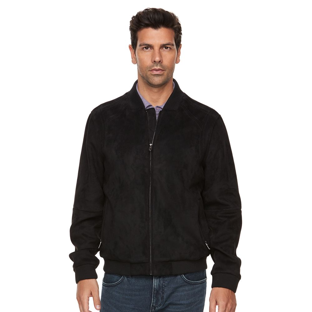 Marc Anthony Slim-Fit Faux-Suede Bomber Jacket