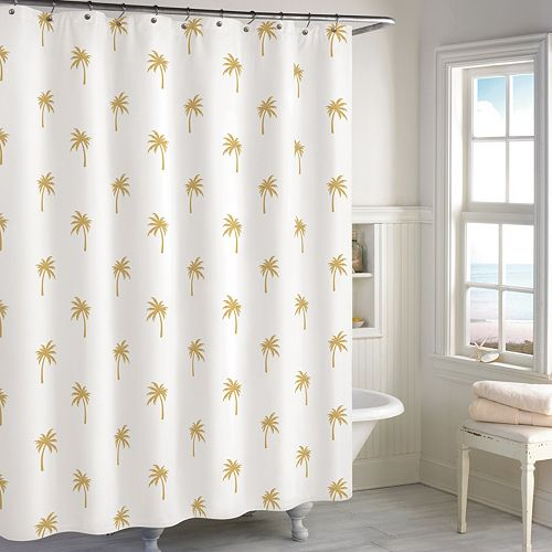 Destinations Golden Palm Tree Shower Curtain
