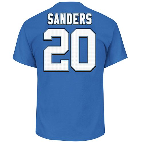 Big & Tall Majestic Detroit Lions Barry Sanders Name and Number Tee