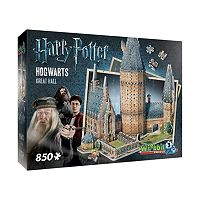 Harry Potter Collection 850 pc Hogwarts Great Hall 3D Puzzle by Wrebbit
