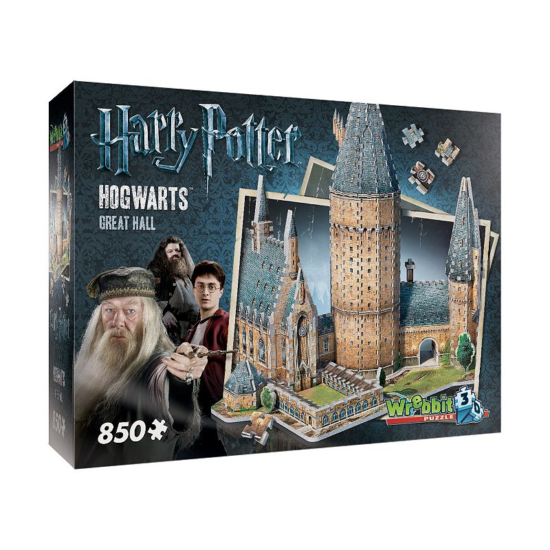 Harry Potter Collection 850-pc. Hogwarts Great Hall 3D Puzzle by Wrebbit Magic is at your fingertips with this Harry Potter Collection 850-pc. Hogwarts Great Hall 3D Puzzle by Wrebbit. Fully-interlocking pieces WHAT'S INCLUDED 850 pieces Assembled size: 19.75  x 15.25  x 18.5  Age: 14 years & up Imported Model no. WRW3D2014 Size: One Size. Color: Multicolor. Gender: unisex. Age Group: kids.