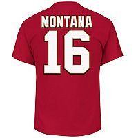 Big & Tall Majestic San Francisco 49ers Joe Montana Name and Number Tee