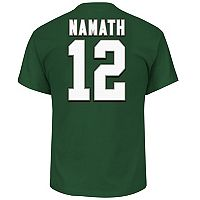 Big & Tall Majestic New York Jets Joe Namath Name and Number Tee