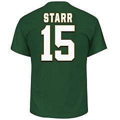 Big & Tall Majestic Green Bay Packers Bart Starr Name and Number Tee
