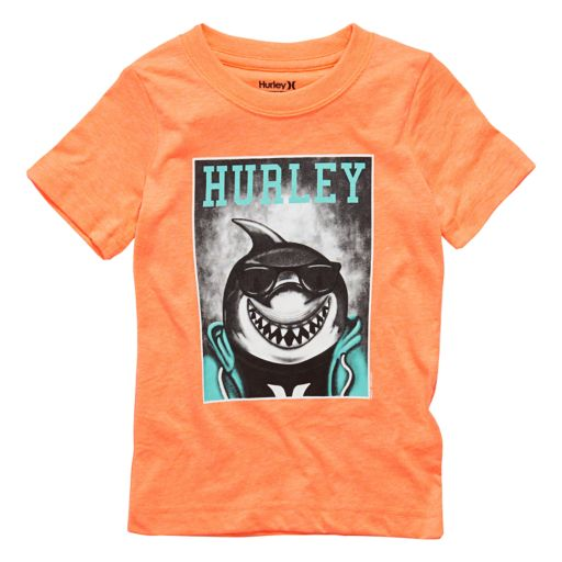 Toddler Boy Hurley Shark with Glasses Graphic Tee