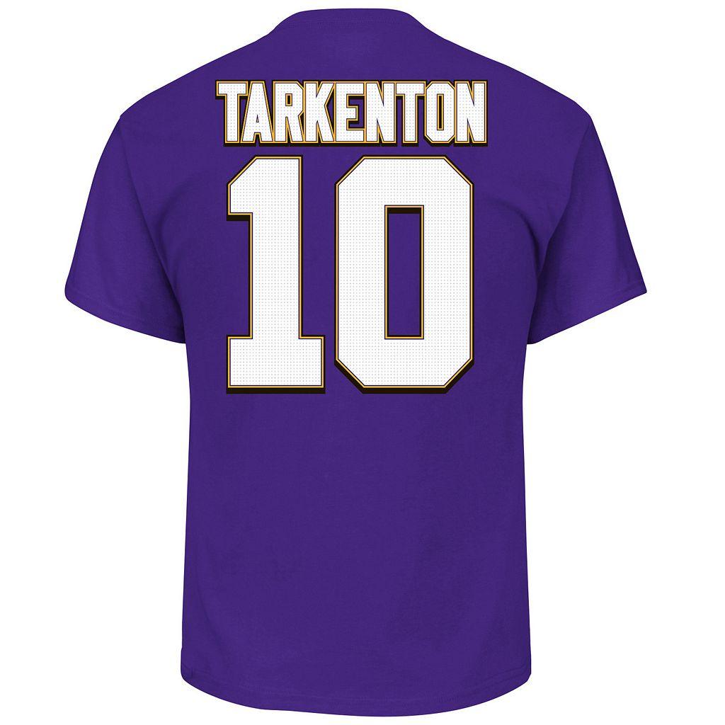 Big & Tall Majestic Minnesota Vikings Fran Tarkenton Name and Number Tee