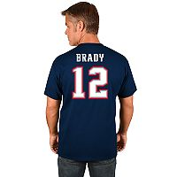 Big & Tall Majestic New England Patriots Tom Brady Name and Number Tee