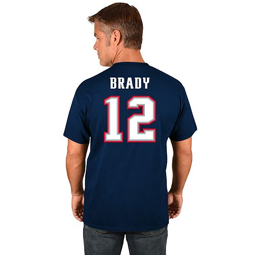 Big & Tall Majestic New EnglandPatriots Tom Brady Name and Number Tee