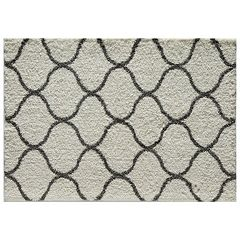 Rugs America Feather Shag Links Trellis Rug