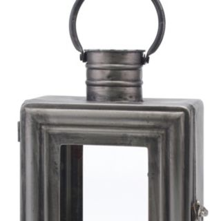 Stonebriar Collection Industrial Lantern Pillar Candle Holder