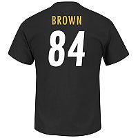 Big & Tall Majestic Pittsburgh Steelers Antonio Brown Name and Number Tee