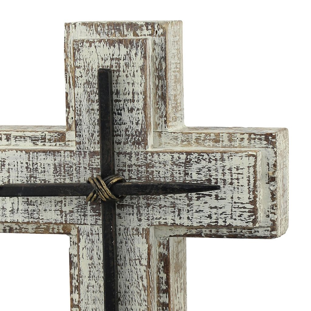 Stonebriar Collection Wood Cross Table Decor