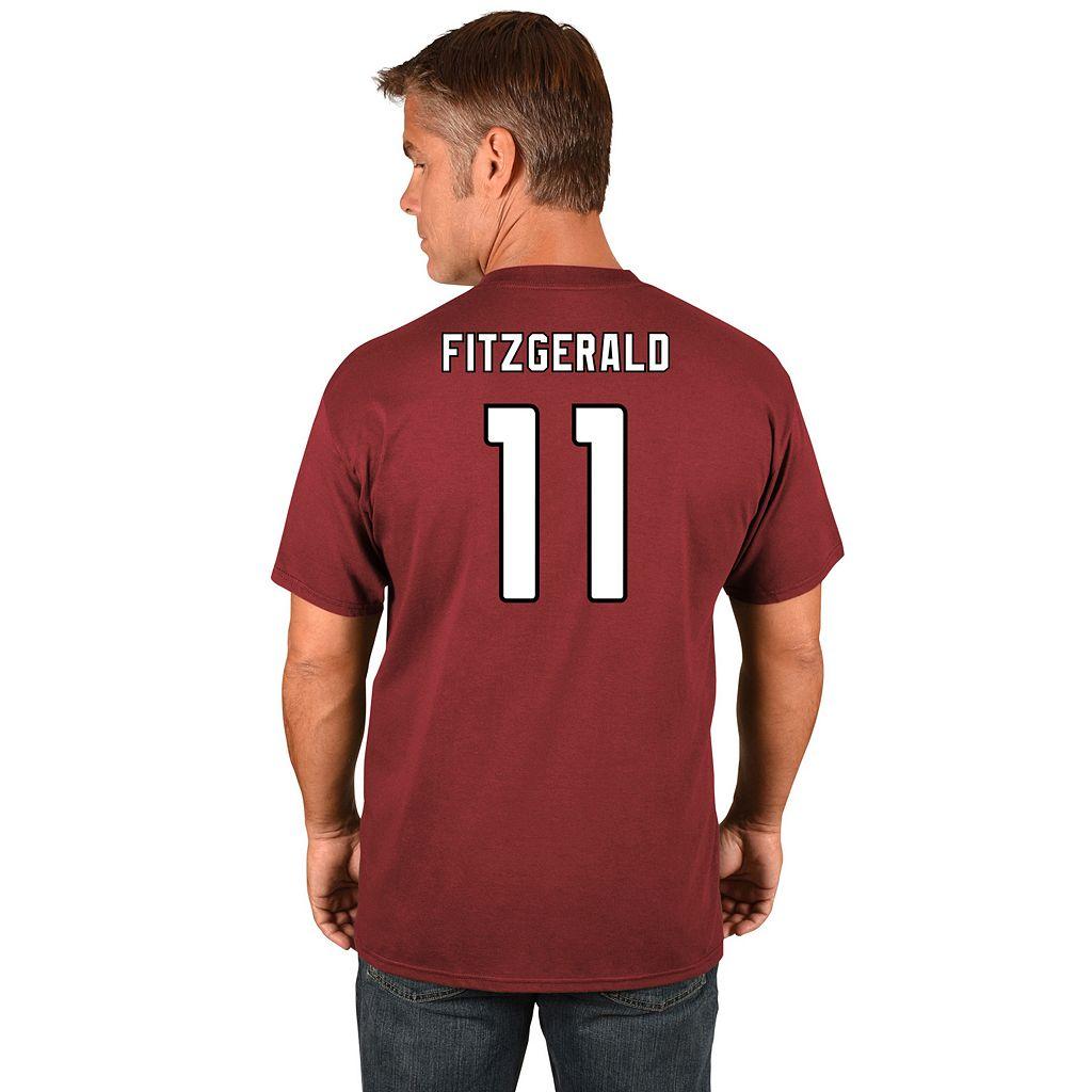 Big & Tall Majestic Arizona Cardinals Larry Fitzgerald Name and Number Tee