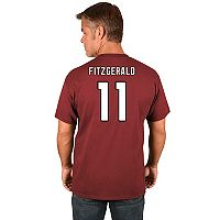 Big & Tall Majestic Arizona Cardinals Larry Fitzgerald Name and Number Tee