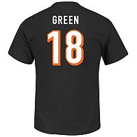 Big & Tall Majestic Cincinnati Bengals A. J. Green Name and Number Tee