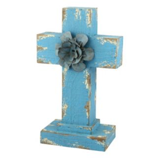 Stonebriar Collection Weathered Wood Cross Table Decor