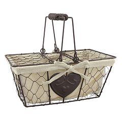 Stonebriar Collection Chicken Wire Metal Basket