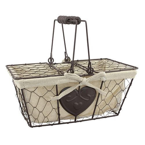 Stonebriar Collection Chicken Wire Metal Basket