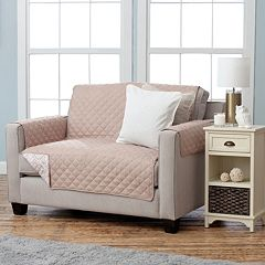 Home Fashion Designs Adalyn Collection Printed Loveseat Slipcover