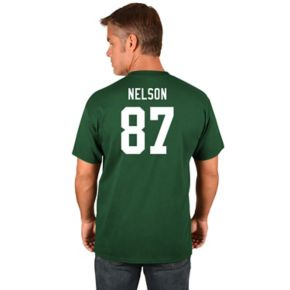 Big & Tall Majestic Green Bay Packers Jordy Nelson Name and Number Tee