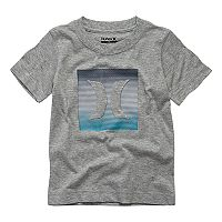 Baby Boy Hurley Striped Logo Graphic Tee