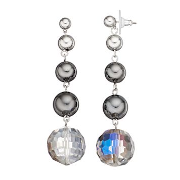 Simply Vera Vera Wang Graduated Bead Nickel Free Linear Earrings