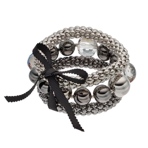 Simply Vera Vera Wang Bead & Popcorn Chain Stretch Bracelet Set
